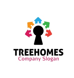 Tree homes design vector