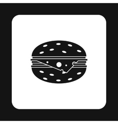 Cheeseburger icon simple style vector