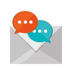 Message envelope and conversation bubble icon vector