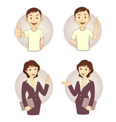 Gesturing business person set vector