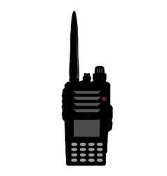 Walkie talkie or police radio or radio vector