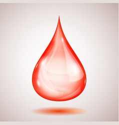 One big red drop vector