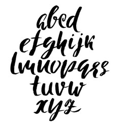 Hand drawn elegant calligraphy font modern brush vector