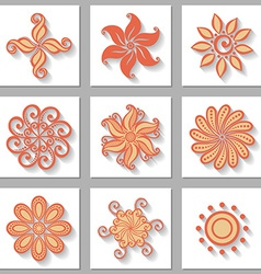 Deco small circle test set vector