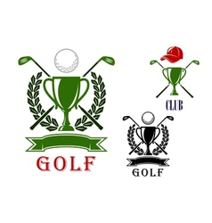 Golf emblem and badges design templates vector
