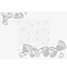 Background with paper heart vector