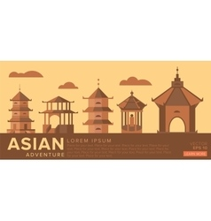 Travel to asia traditional architecture vector