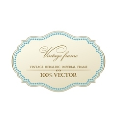 Blank frame and label vintage sticker vector