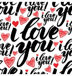 Calligraphy love seamless 3 vector