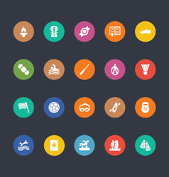 Glyphs colored icons 46 vector