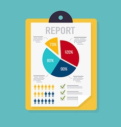 Business report with graphic and management vector