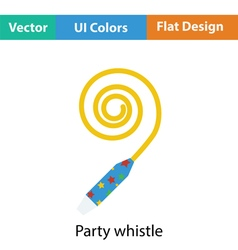 Party whistle icon vector