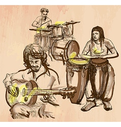 Music band - an hand drawn vector
