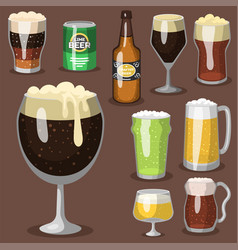 alcohol beer refreshment vector image