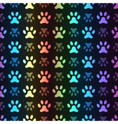 Animal seamless spectrum pattern of paw vector