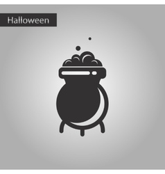 Black and white style icon cauldron witches potion vector