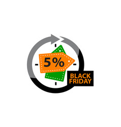 Black friday discount 5 percentage vector