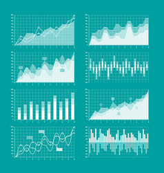 Business charts and graphs infographic elements vector