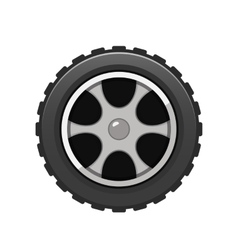 Car Tire icon isolated on white background vector image