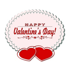 Card with valentine day vector