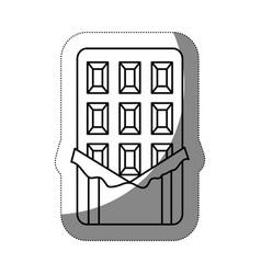 chocolate bar icon vector image vector image
