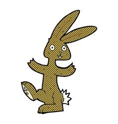 comic cartoon rabbit vector image