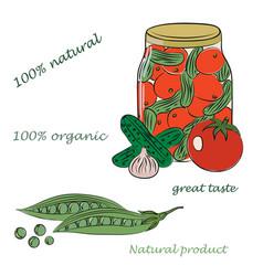 conservation veget vector image