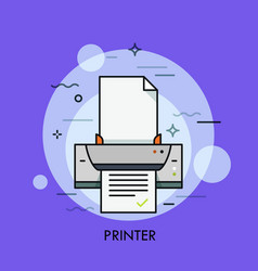 electronic printer hardware device for paper vector image