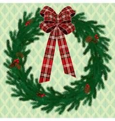 fir wreath vector image vector image