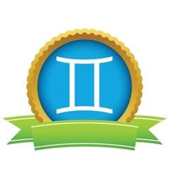 Gold Gemini logo vector image vector image
