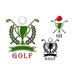 Golf emblem and badges design templates vector