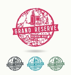 Grand reserve wine label vector