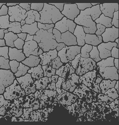 Gray cracks background vector