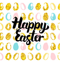 Happy easter handwritten card vector