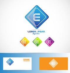 Letter e rhombus logo vector
