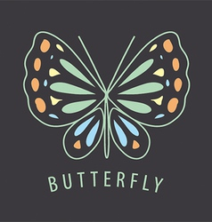 logo of the butterfly patterns on a dark vector image