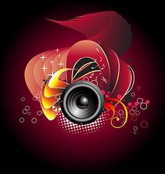 Music speaker design vector image vector image