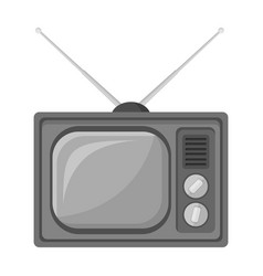 Old tvold age single icon in monochrome style vector