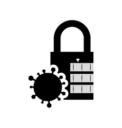 Padlock security system design vector
