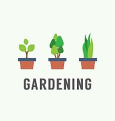Pot Plants Gardening Concept vector image vector image