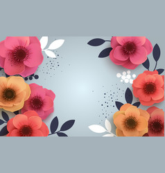 Red flowers with a realistic shadow to bannnera or vector