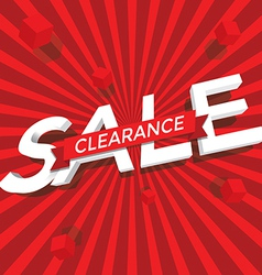 Sale clearance vector image vector image