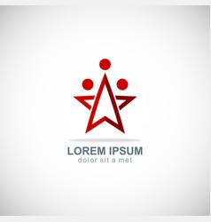 star team work company logo vector image vector image