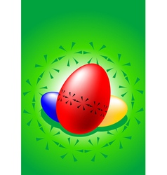 stylized colored easter eggs vector image