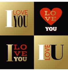 Valentines day greeting cards or labels with vector
