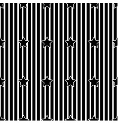 white stripe and star on black background vector image vector image