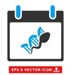 Sperm dna replication calendar day eps icon vector