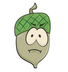 Cartoon Sad Acorn vector image