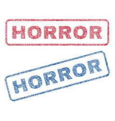 Horror textile stamps vector