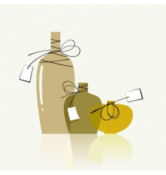transparent bottles vector image